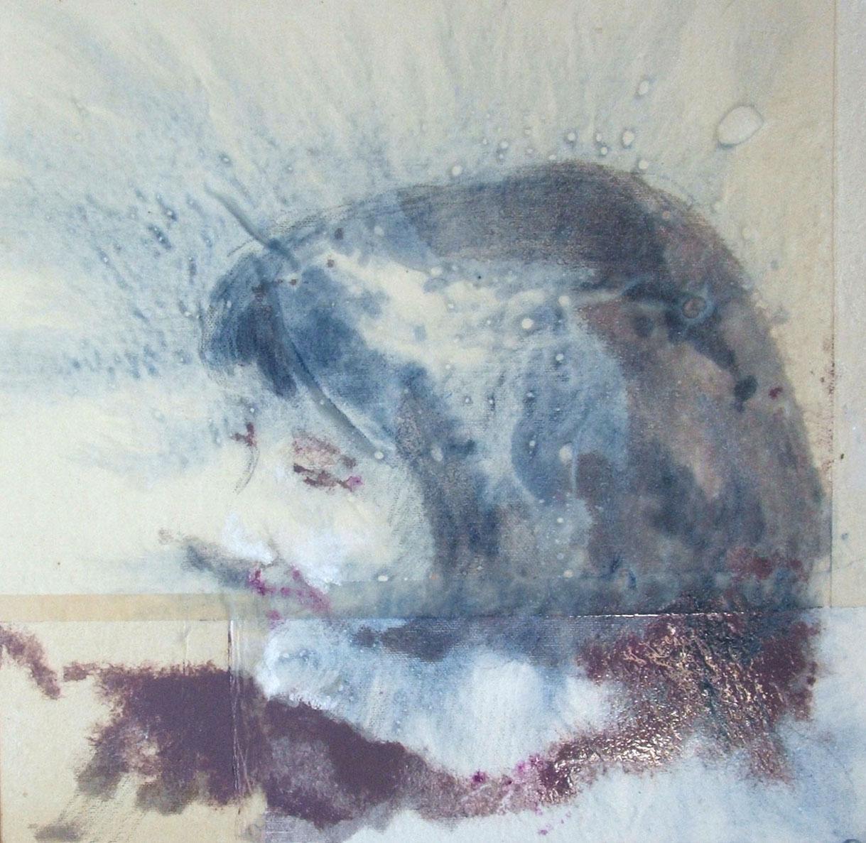 CIONNA 02_2018 (50x50 cm) tecnica mista su tela | Andrea Silicati Pittore