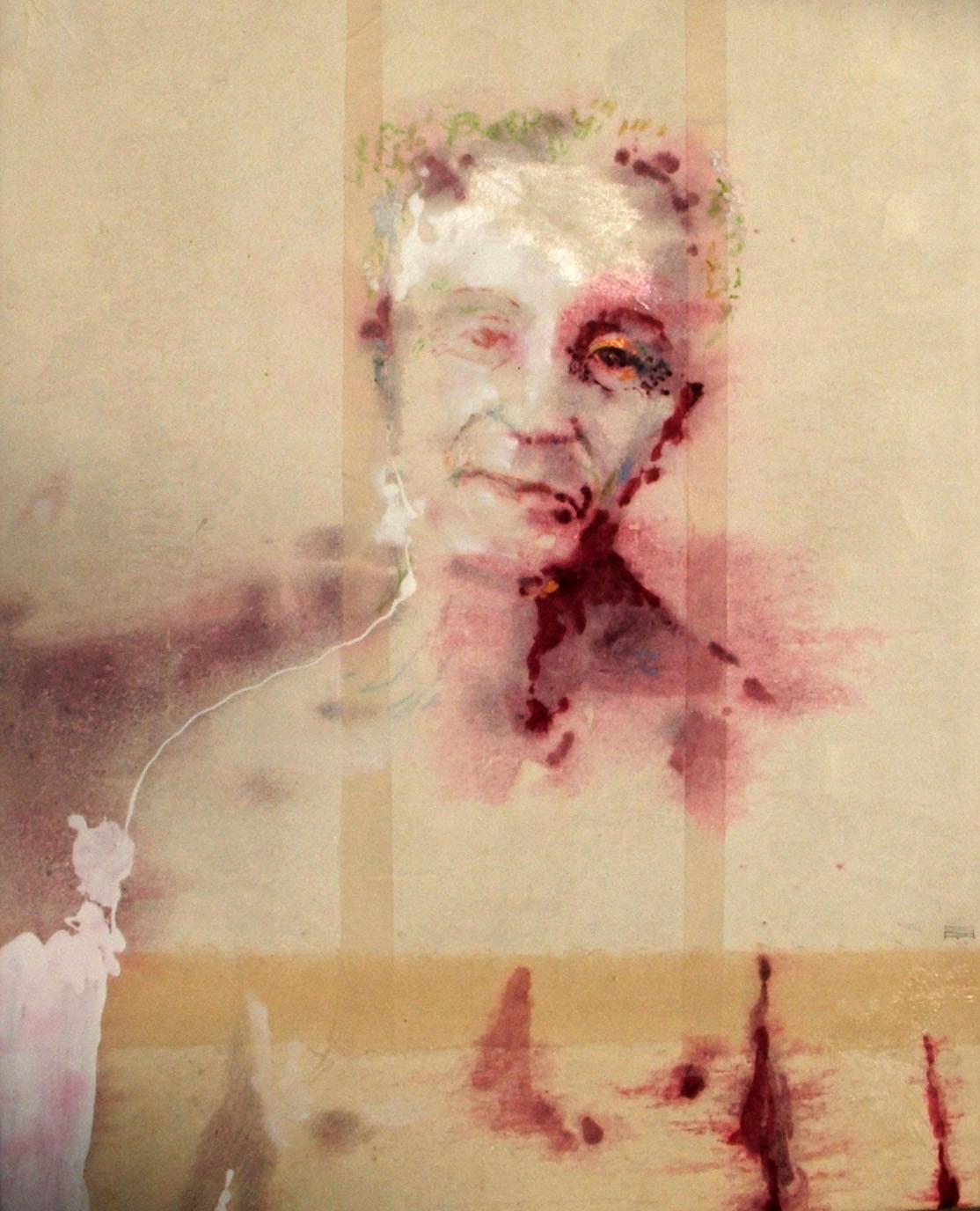 F. 2019 50 X 50 cm tecnica mista su tela | Andrea Silicati Pittore