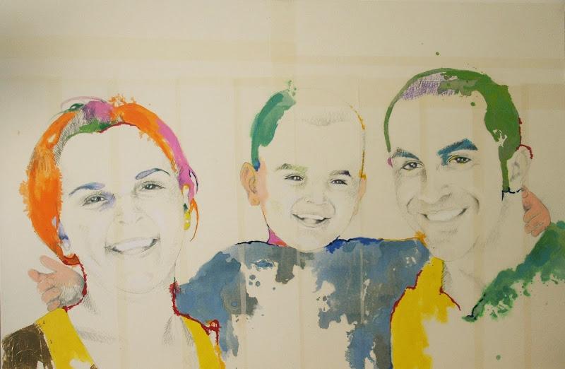 FAMIGLIA_2012 (100 x 150 cm) tecnica mista su tela | Andrea Silicati Pittore