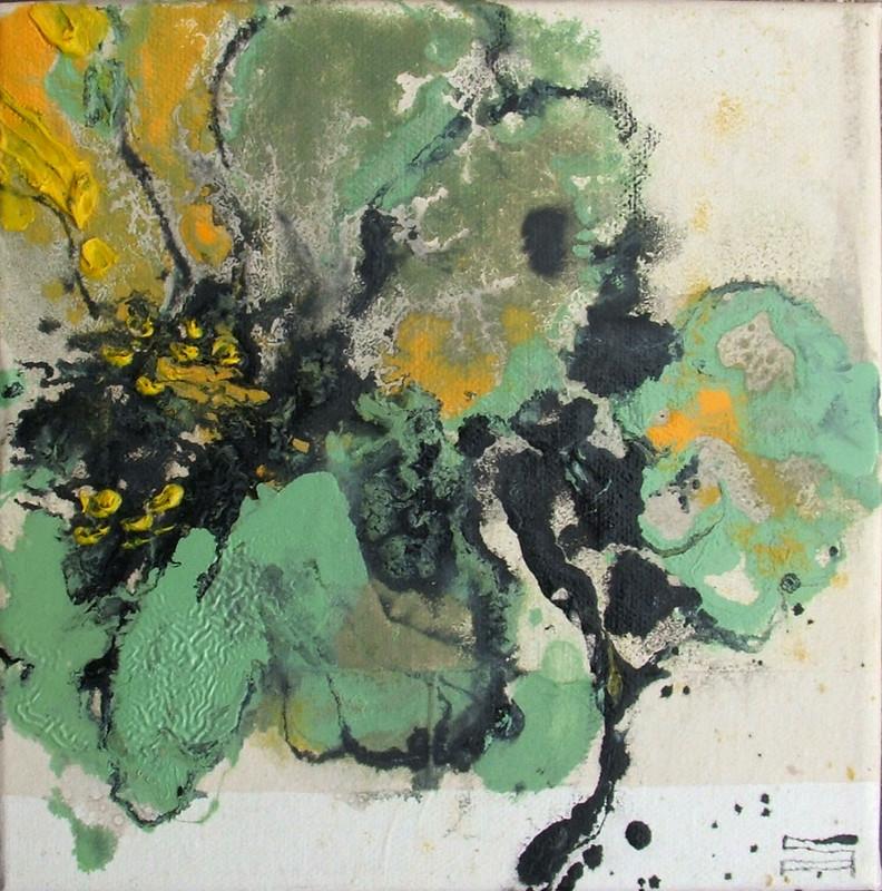 Fiore 15 (20x20cm) | Andrea Silicati Pittore