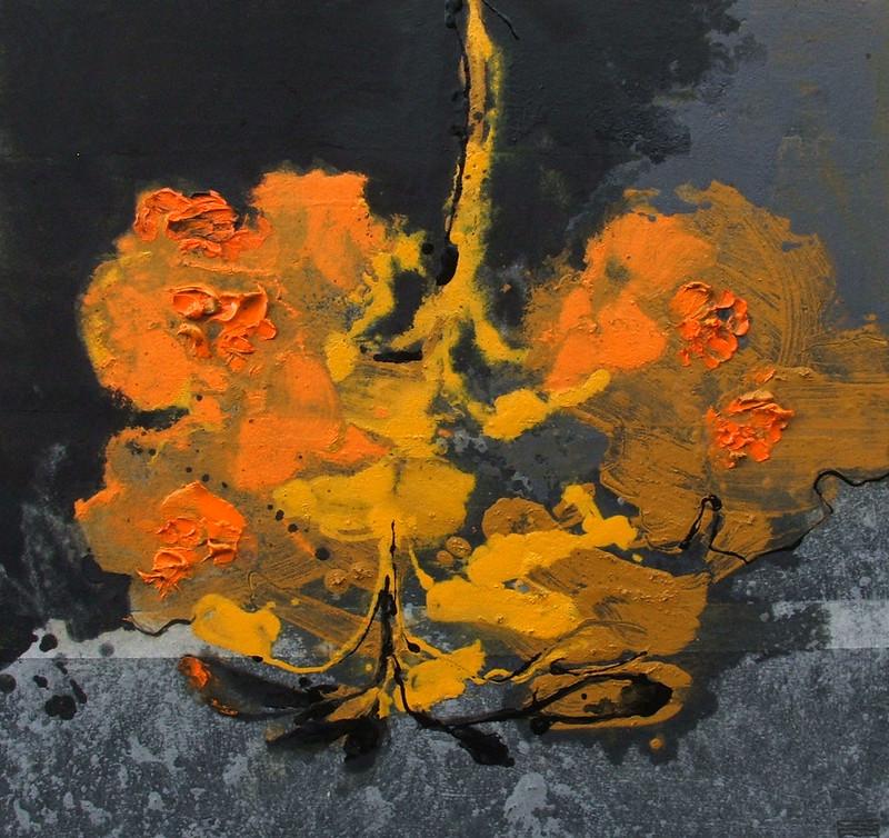 Fiore 21 2019 (40x40cm) | Andrea Silicati Pittore