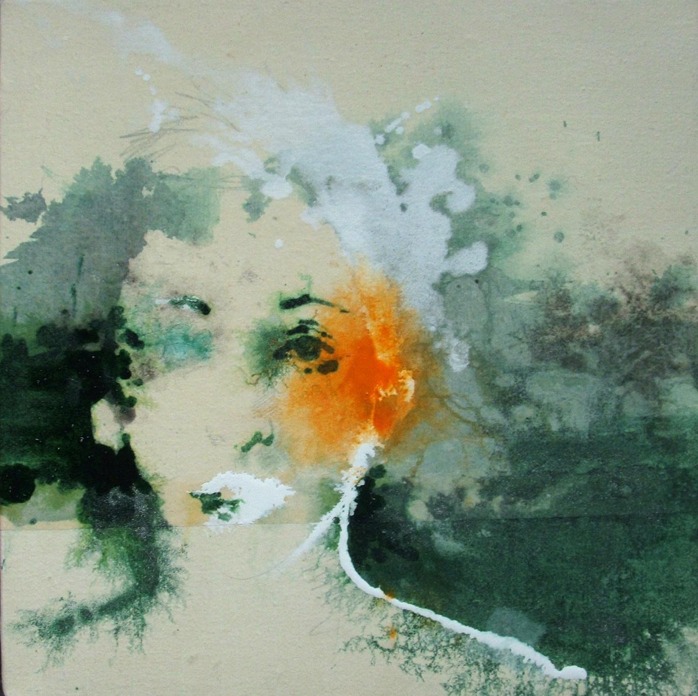 S._2018 (40 x 40 cm) tecnica mista su tela | Andrea Silicati Pittore