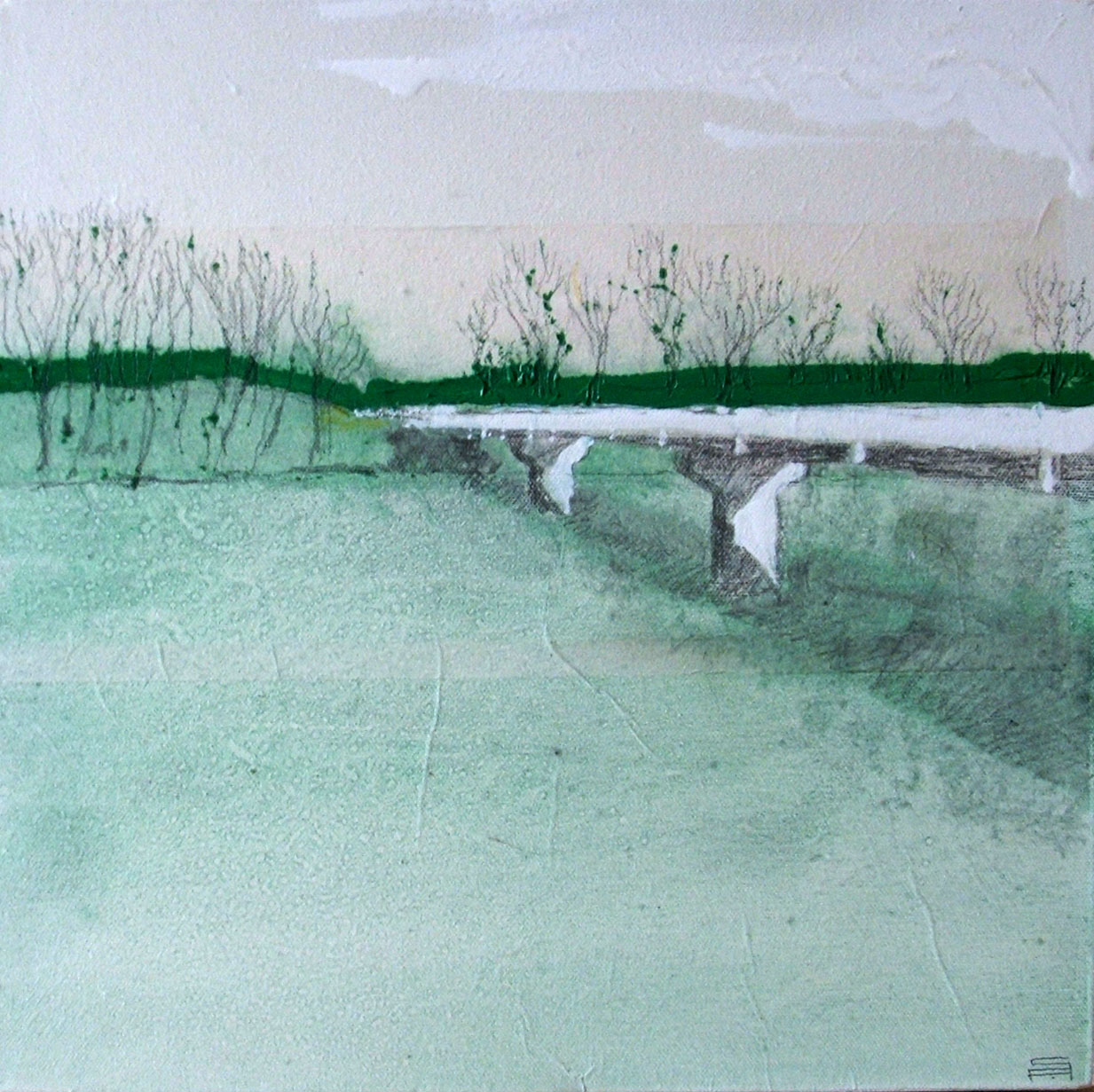 ponte (50 x 50 cm) | Andrea Silicati Pittore