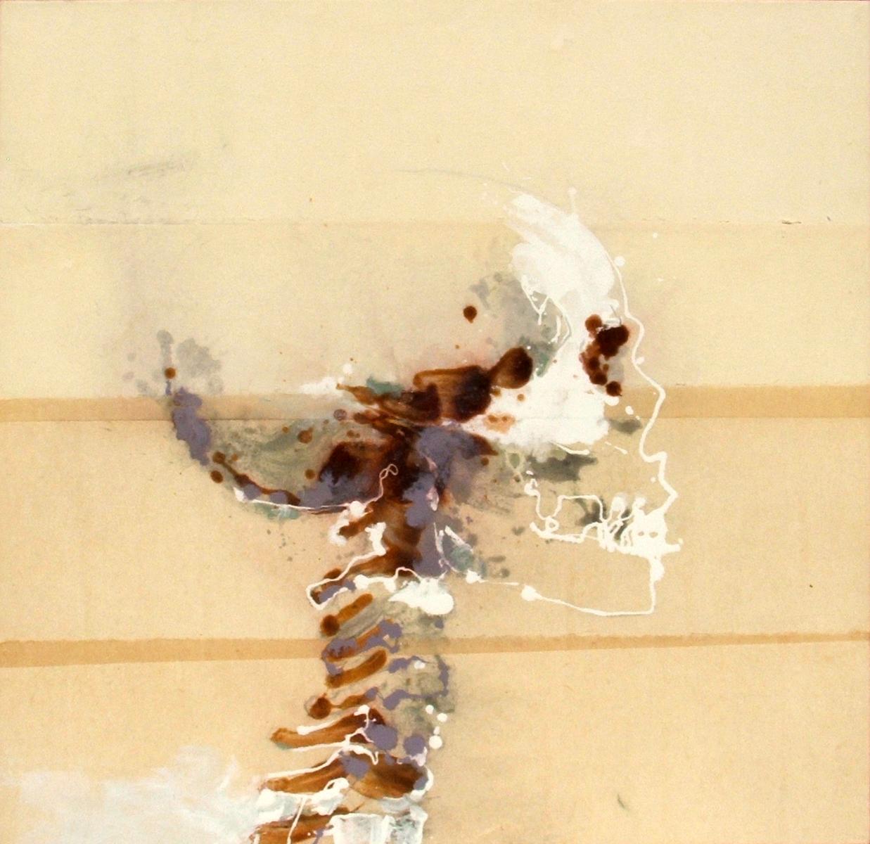 teschio 12 (100 x 100 cm) | Andrea Silicati Pittore