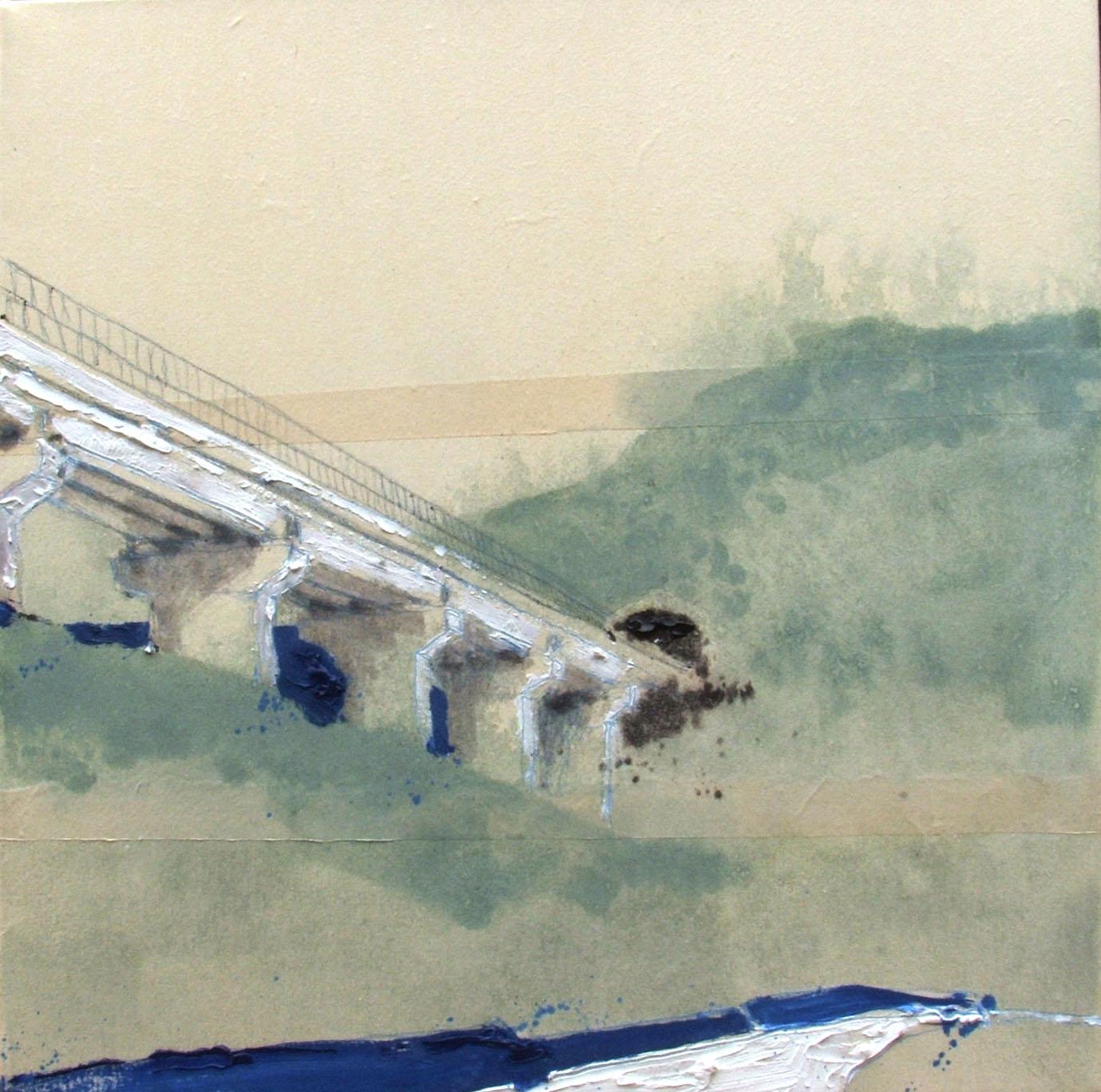 viadotto (50 x 50 cm) | Andrea Silicati Pittore